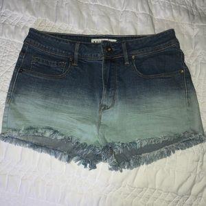 PacSun High Waisted Ombré Jean Shorts